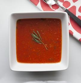 red pepper-tomato-soup
