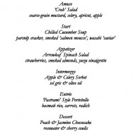 2Elizabeth's Gone Raw June 20 Menu