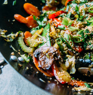 Vegetable Stir Fry with Cauliflower Rice-Stocksy
