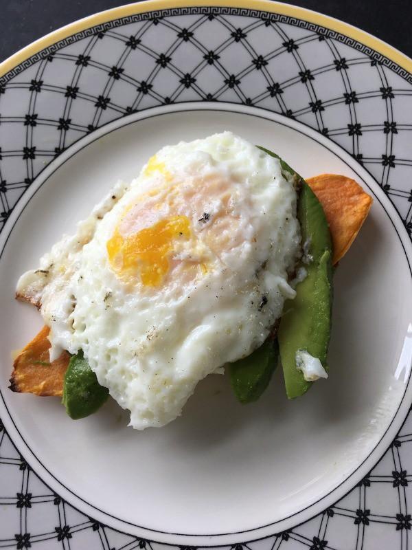 Egg and Avocado on Sweet Potato Toast600x800